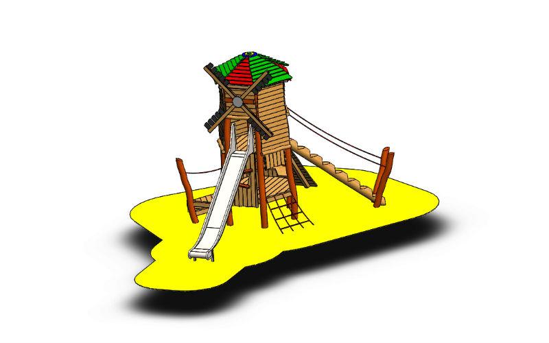 Spielturm Mühle