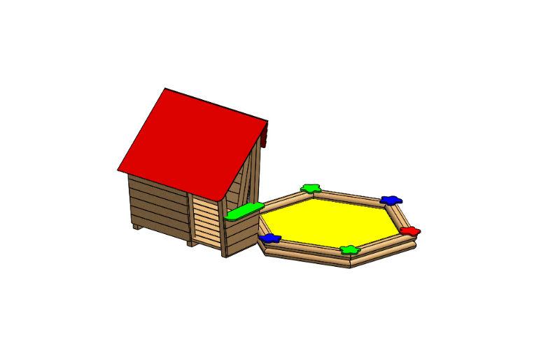 """Spielhaus mit Sandkiste """"Hahna"""""""